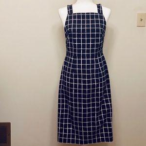 Betsey Johnson Black/White Windowpane Shift Dress